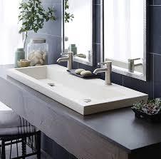 Vanity Home Design Outlet Center by Kohler Trough Bathroom Sink Vanity U2014 Jen U0026 Joes Design