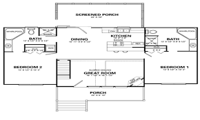 Two Bedroom Cabin Floor Plans 2 Bedroom House Floor Plans Tiny House Single Floor Plans 2