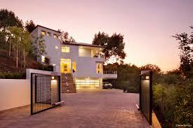 hillside house plans modern slope front back 5016re luxihome