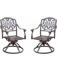 Metal Patio Chair Fall Savings On Elisabeth Metal Patio Dining Chairs Set Of 2