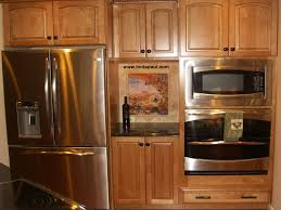 natural maple kitchen cabinets tuscan tile murals kitchen