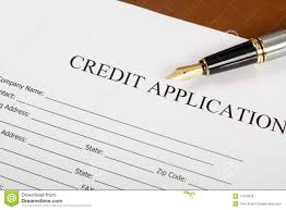 credit application form stock image image of contract 11533539