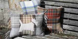 quirky tartan cushions make ideal clan gifts with a tartan twist