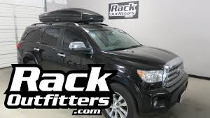 roof rack for toyota sequoia toyota sequoia with thule 636b sonic roof top cargo box