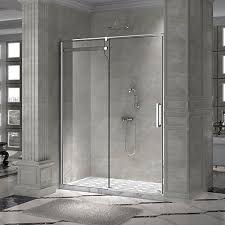 Shower Door Closer by Valley 59 In Opening Rolling Shower Door And A Single Fixed Panel