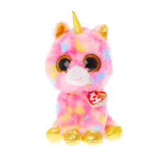 ty beanie boo medium fantasia unicorn soft toy claire u0027s