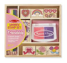 doug amazon com melissa u0026 doug wooden stamps set of 2 princess and
