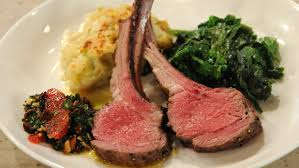 salt and pepper crusted rack of lamb with blood orange and cherry