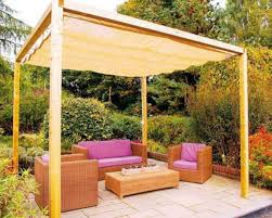 60 cozy outdoor spaces with fabric canopy suitable for wedding