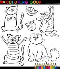 cartoon cats kittens coloring u2014 stock vector izakowski