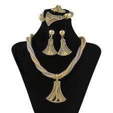 s day jewelry tassel necklace bracelet ring earring set dubai charm women 2017