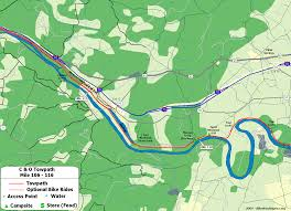French Creek State Park Map by The C U0026o Canal Bicycling Guide Mile 106 Thru 116