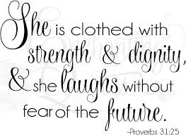 religious quotes for clothed in strength