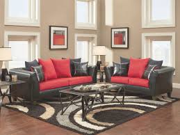 fresh black and red living room design small home decoration ideas