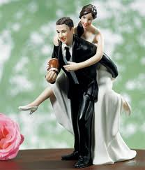 football wedding cake toppers playful football wedding cake topper wedding cake toppers