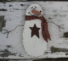 primitives winter decor snowman with lighted saltbox