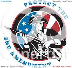 2nd Amendment Flag Royalty Free Rf Clipart Illustration Of Protect The 2nd