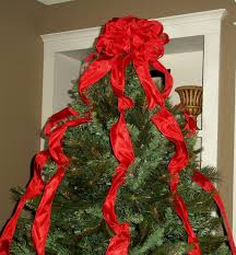 christmas tree bow topper christmas tree topper bow with streamers large tree topper