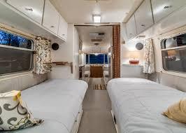 renovated rv take a virtual trip inside an updated 1970s aluminum trailer