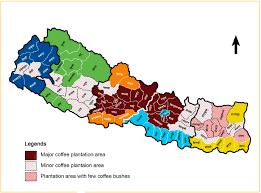 Nepal World Map Site Maps Coffee Plantation Area Of Nepal