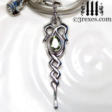 silver necklace with stone images Silver dripping celtic princess necklace 925 sterling silver jpg