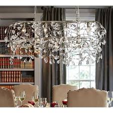 Rectangular Chandelier With Crystals Pottery Barn Bella Crystal Ball Rectangular Chandelier Polyvore