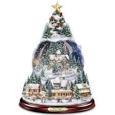 kinkade wondrous winter musical tabletop tree
