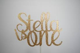 one cake topper 1st birthday cake topper personalized cake topper gold glitter