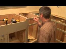 best screws for attaching cabinets together joining cabinets through the face frame youtube
