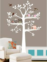 family tree wall decal shelf tree decal tree decal with owl