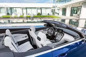 mercedes c 400 amg 2017 mercedes c400 4matic cabriolet interior view motor trend