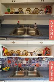 peinturer comptoir de cuisine 10 dosserets de cuisine économiques qu on peut retirer quand on veut