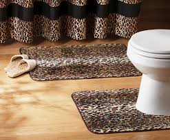 Animal Print Bathroom Ideas 3 Pc Zebra Leopard Print Toilet Cover Set Bathroom Mat Rug Lid