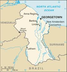 guyana map driving directions and maps