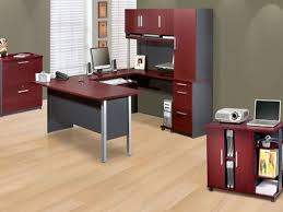 Red Laminate Flooring Office 37 Red Decoration Ideas For Home Office For Woman With