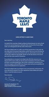 toronto maple leafs apologize to frustrated fans after another