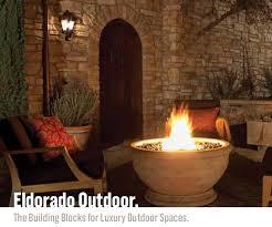 Eldorado Outdoor Fireplace by Outdoor Kitchens Designcast Concrete