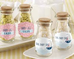 nautical baby shower favors personalized milk jar kate s nautical baby shower collection set