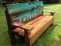 Free Park Bench Design Plans by Kathi U0027s Garden Art Rust N Stuff Team Building Garden Bench With