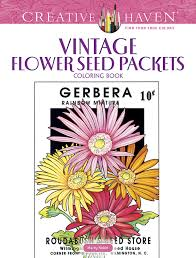 flower seed packets creative vintage flower seed packets coloring book
