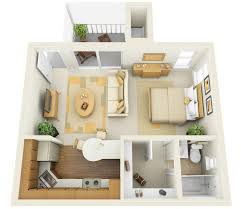 studio apartment floor plans simple small one bedroom