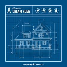 free home blueprints house blueprint vector free