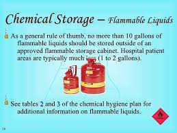 what should be stored in a flammable storage cabinet chemical safety