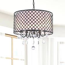 Chandeliers With Shades And Crystals by Shade Chandelier With Crystals U2013 Eimat Co