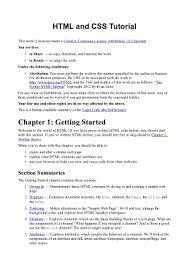css tutorial pdf for dummies html tutorial download free pdf free pdf books