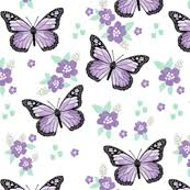 monarch butterfly fabric wallpaper gift wrap spoonflower