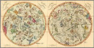 World Map Hemispheres by Celestial Maps Of The Constellations In The Northern And Southern