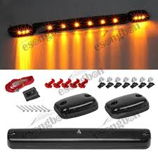 oem chevy cab lights 3pc smoke cab roof running amber led lights for 07 14 chevy