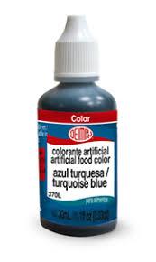 colorante líquido azul turquesa grado alimenticio de 30ml