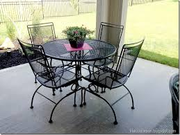 metal patio table and chairs spray painted furniture 5 piece wrought iron patio set patio wrought